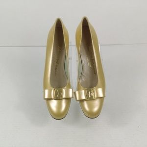 Salvatore Ferragamo Shoes Bow Pump Leather